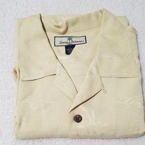 Tommy Bahama Large Hawaiian Shirt 100% Silk